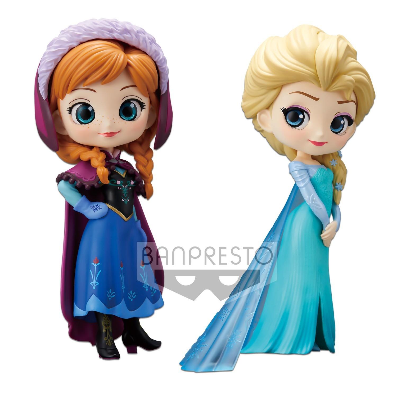 Banpresto Q POSKET Disney Anna and Elsa 2Pack Limited Item