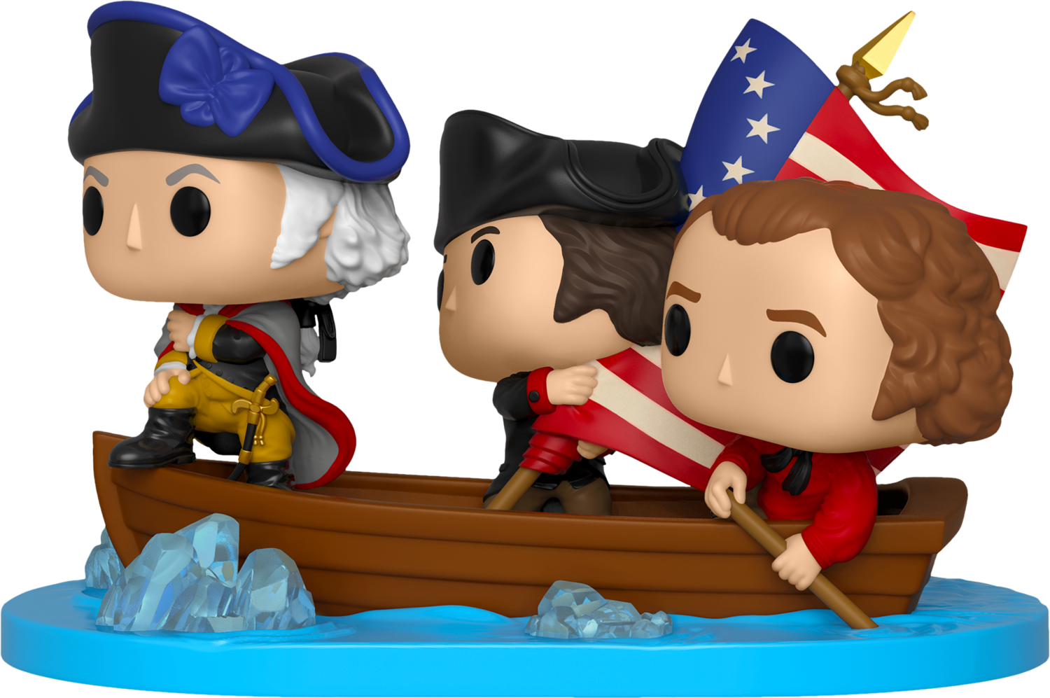 PRE-ORDER Exclusive American History - George Washington crossing the Delaware River Pop! Moment Vinyl Figure