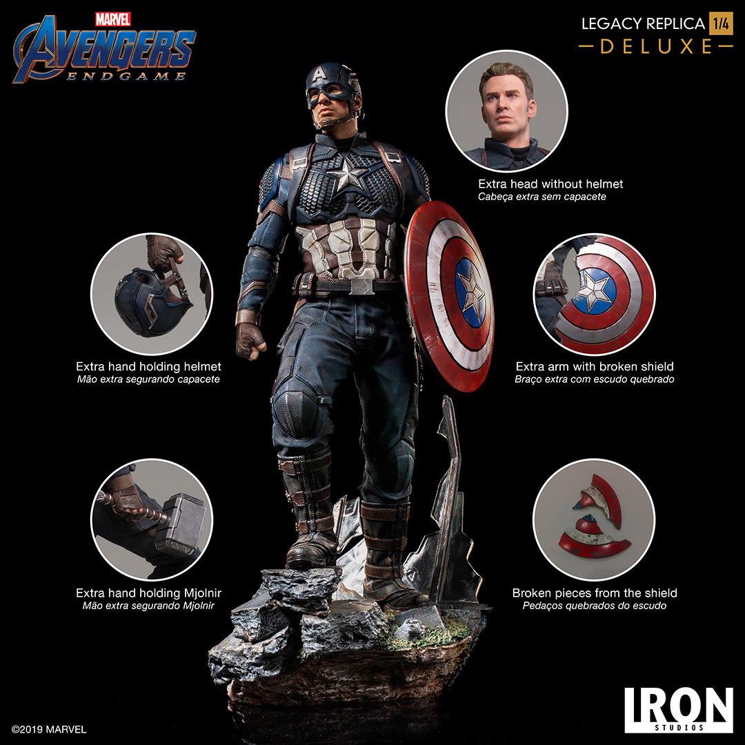 Iron Studios Captain America Deluxe Legacy Replica 1/4 - Avengers Endgame