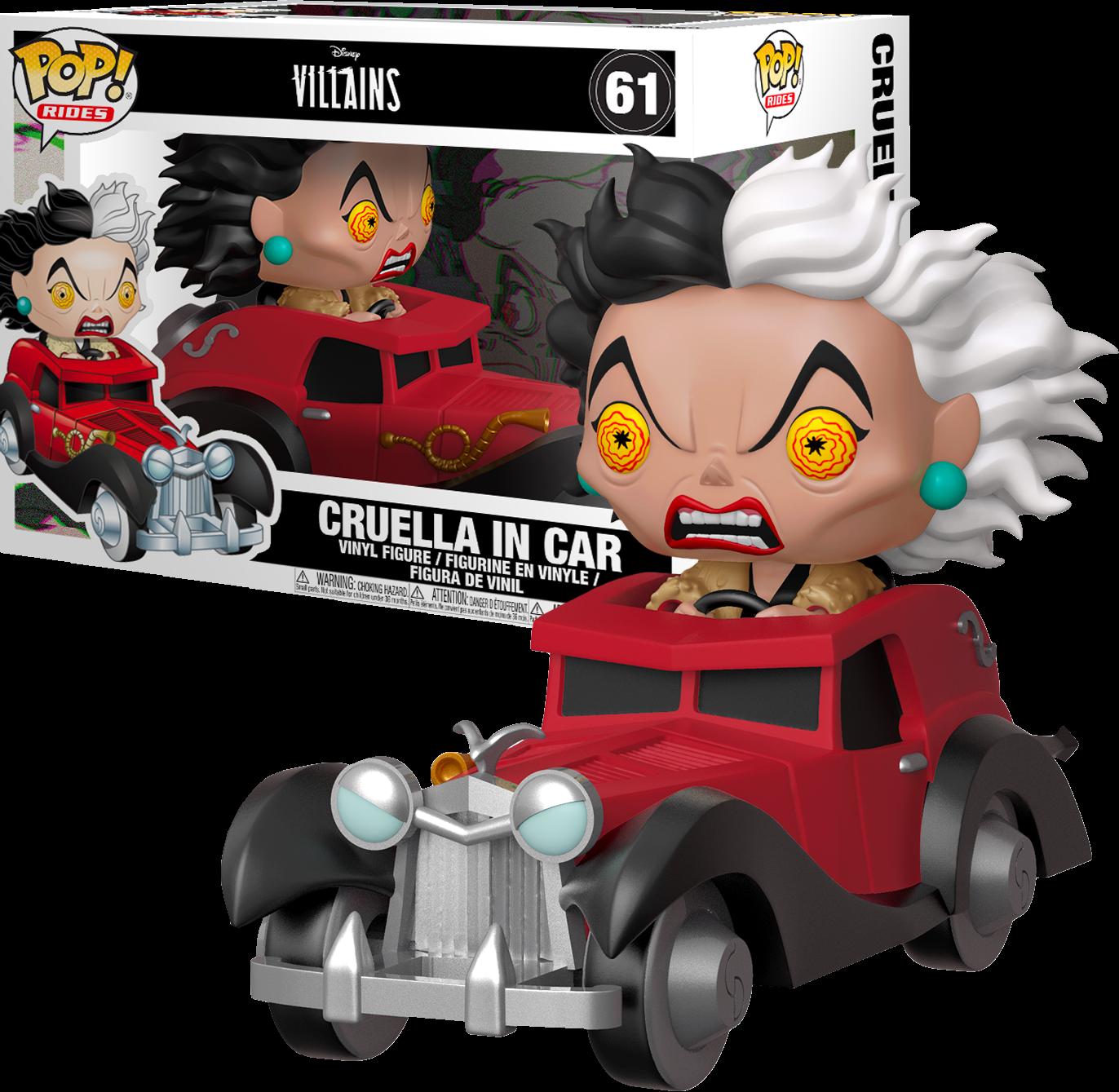 Funko 101 Dalmatians - Cruella De Vil in Car Pop! Rides Vinyl Figure