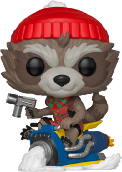 PRE-ORDER Guardians Of The Galaxy - Rocket Raccoon on Snowmobile Christmas Holiday Pop! Vinyl Figure