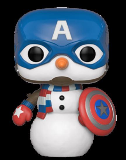 PRE-ORDER The Avengers - Captain America as Snowman Christmas Holiday Pop! Vinyl Figure