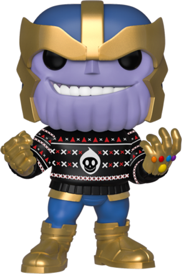 PRE-ORDER The Avengers - Thanos with Ugly Sweater Christmas Holiday Pop! Vinyl Figure