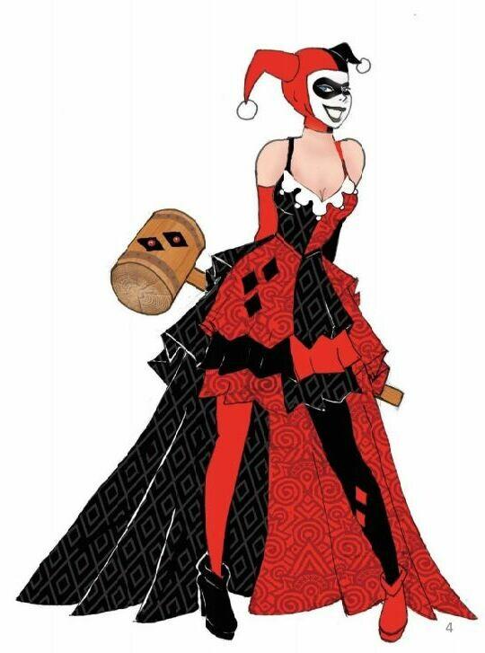 Enesco DCCOM Couture de Force Harley Quinn