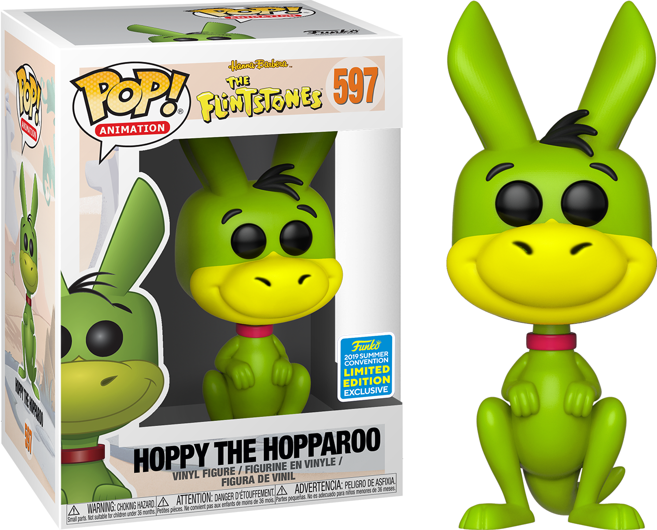 PRE-ORDER The Flintstones - Hoppy the Hopparoo Pop! Vinyl Figure (2019 Summer Convention Exclusive)