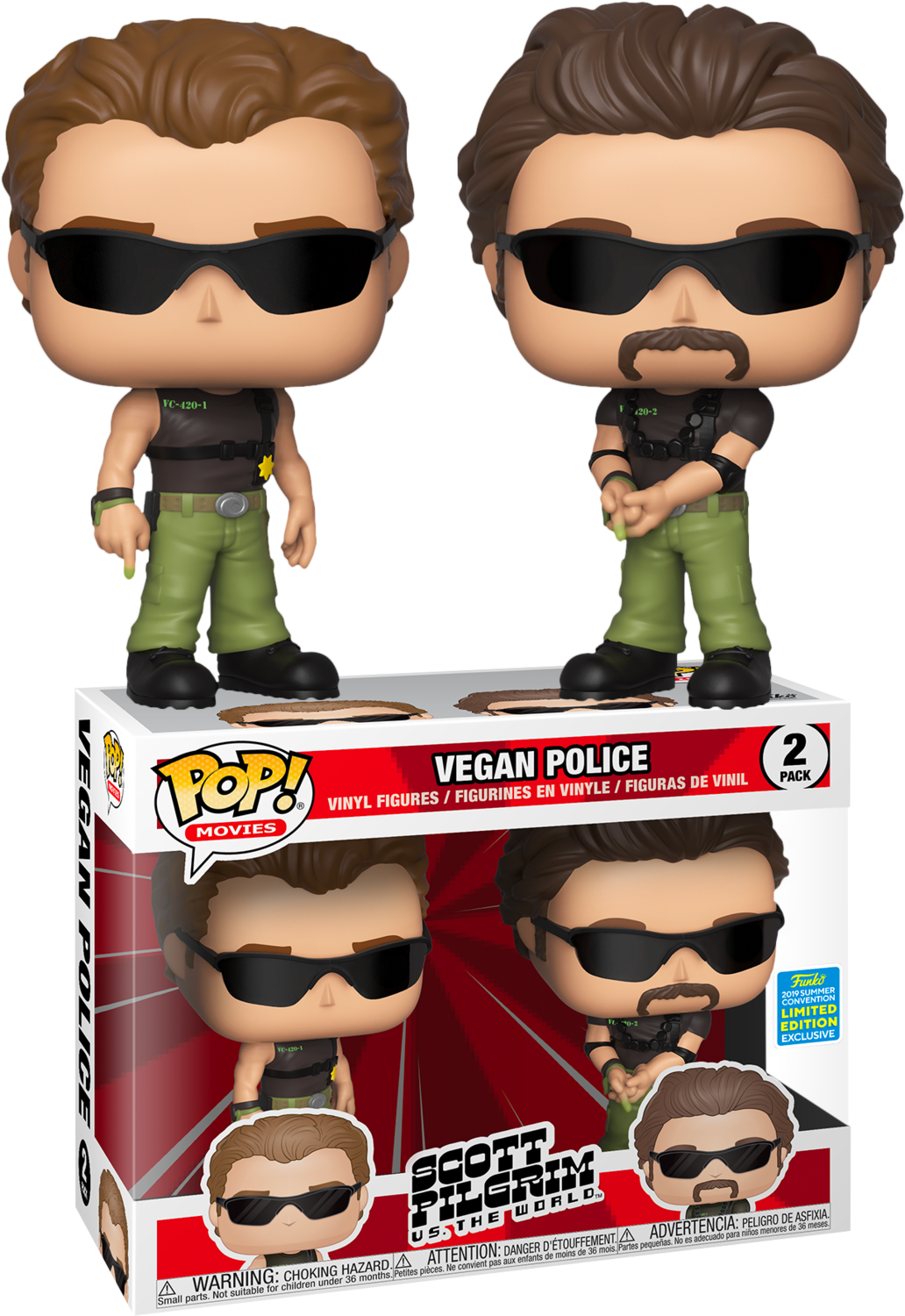 PRE-ORDER Scott Pilgrim vs. the World - Vegan Police Pop! Vinyl Figure 2-Pack (2019 Summer Convention Exclusive)