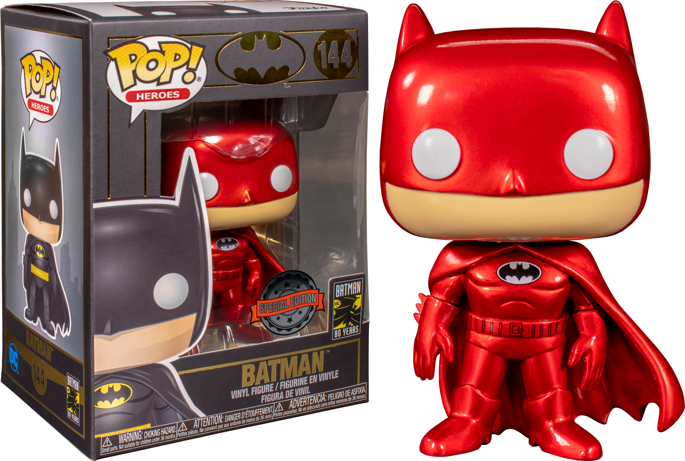 Funko Batman - Batman Red Metallic Exclusive 80th Anniversary Pop! Vinyl Figure
