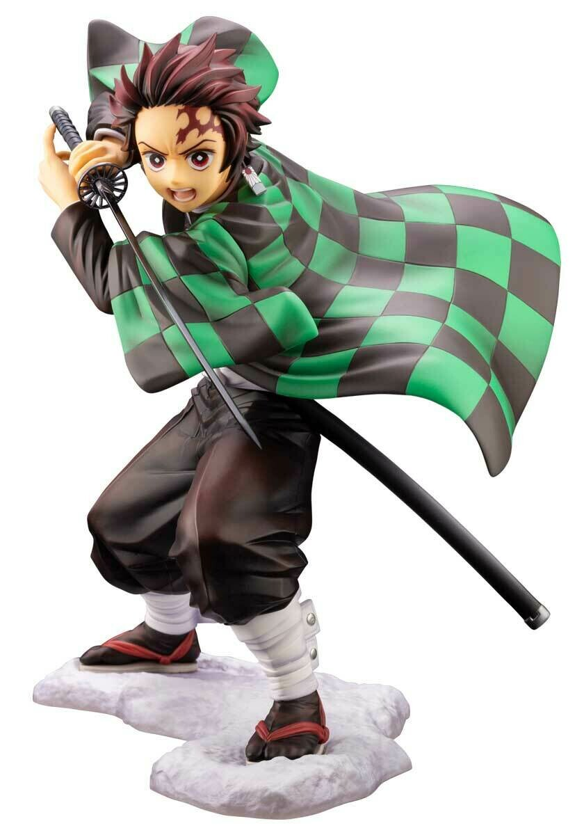Demon Slayer Tanjiro Kamado with Bonus Face Part ARTFX J Statue