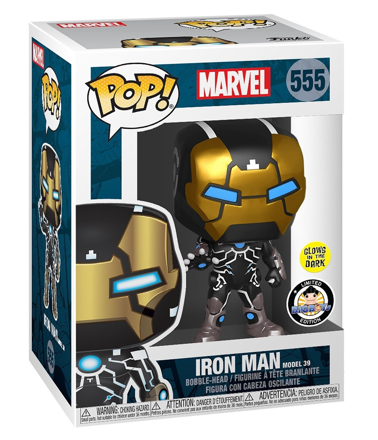 POP Marvel: 80th - Iron Man Model 39 (GW) Big Boys Toy Store Exclusive Pop! Vinyl Figure