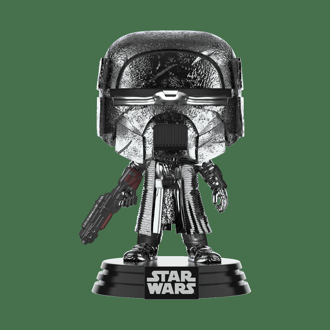 Star Wars: The Rise of Skywalker Hematite Chrome Knight of Ren Blaster Pop! Vinyl Figure