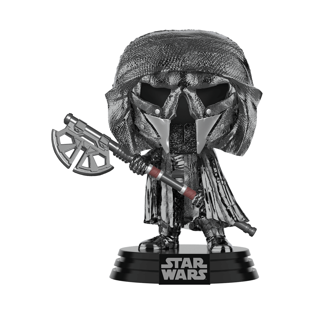 Star Wars: The Rise of Skywalker Hematite Chrome Knight of Ren Axe Pop! Vinyl Figure