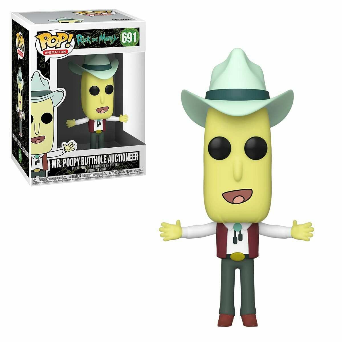 Funko Rick and Morty Mr. Poopy Butthole Auctioneer Pop! Vinyl Figure