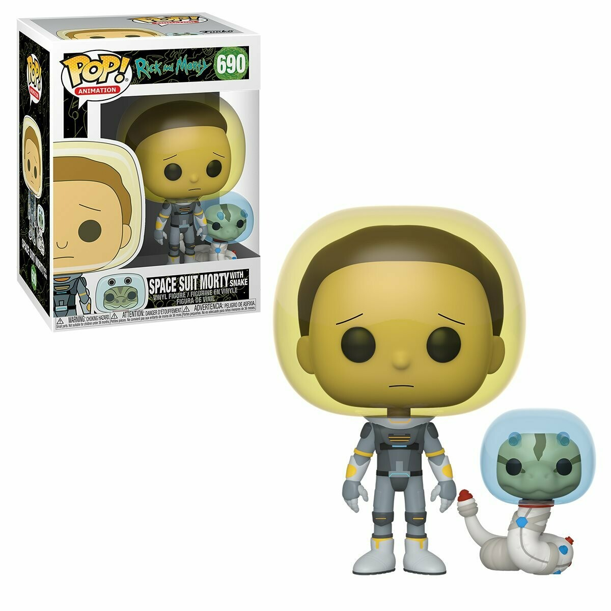Rick and Morty Space Suit Morty With Snake Pop! Vinyl Figure