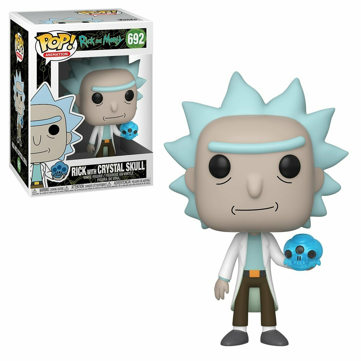 Funko Rick and Morty Rick With Crystal Skull Pop! Vinyl Figure