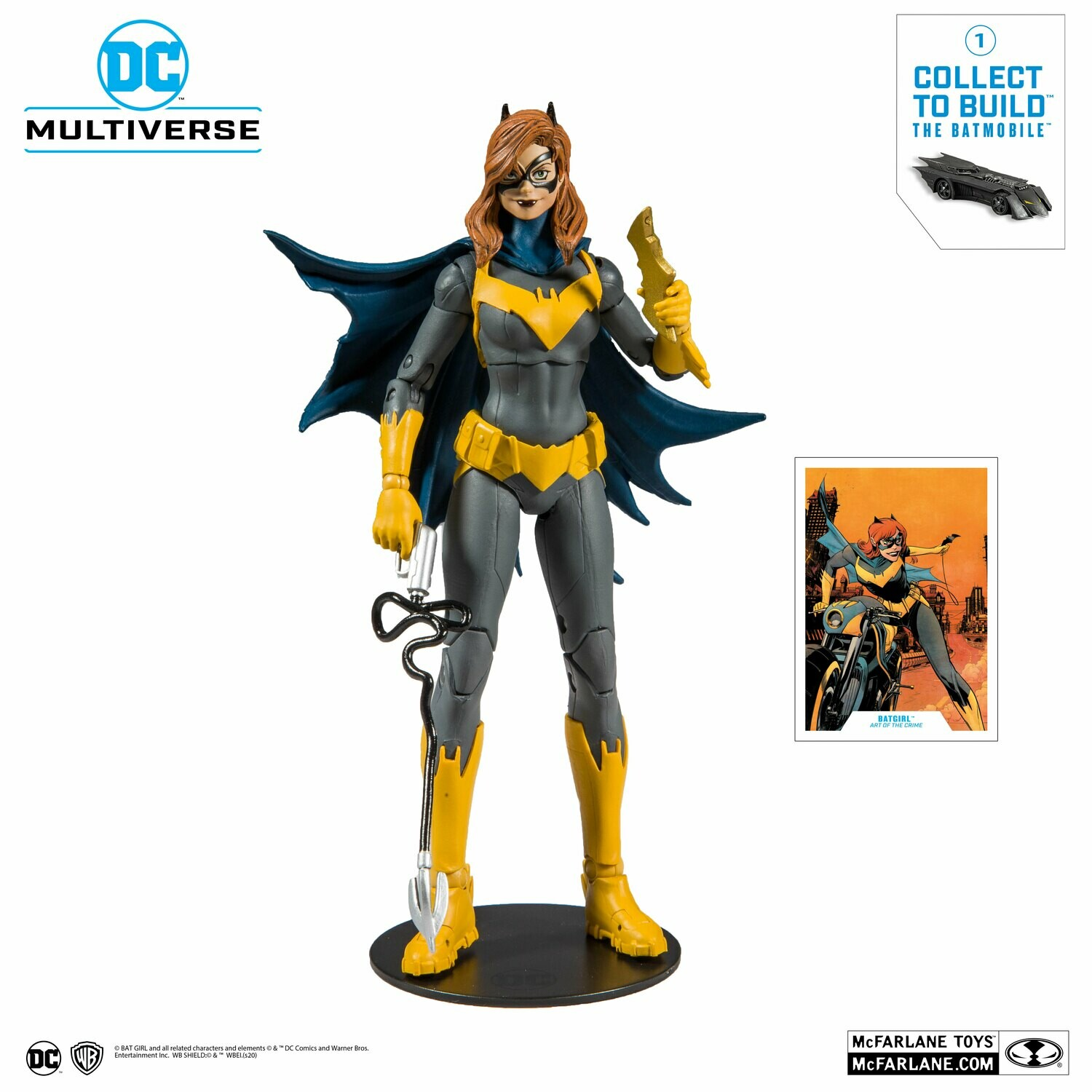 Mcfarlane DC Collector Wave 1 Batgirl Art of the Crime 7-Inch Action Figure