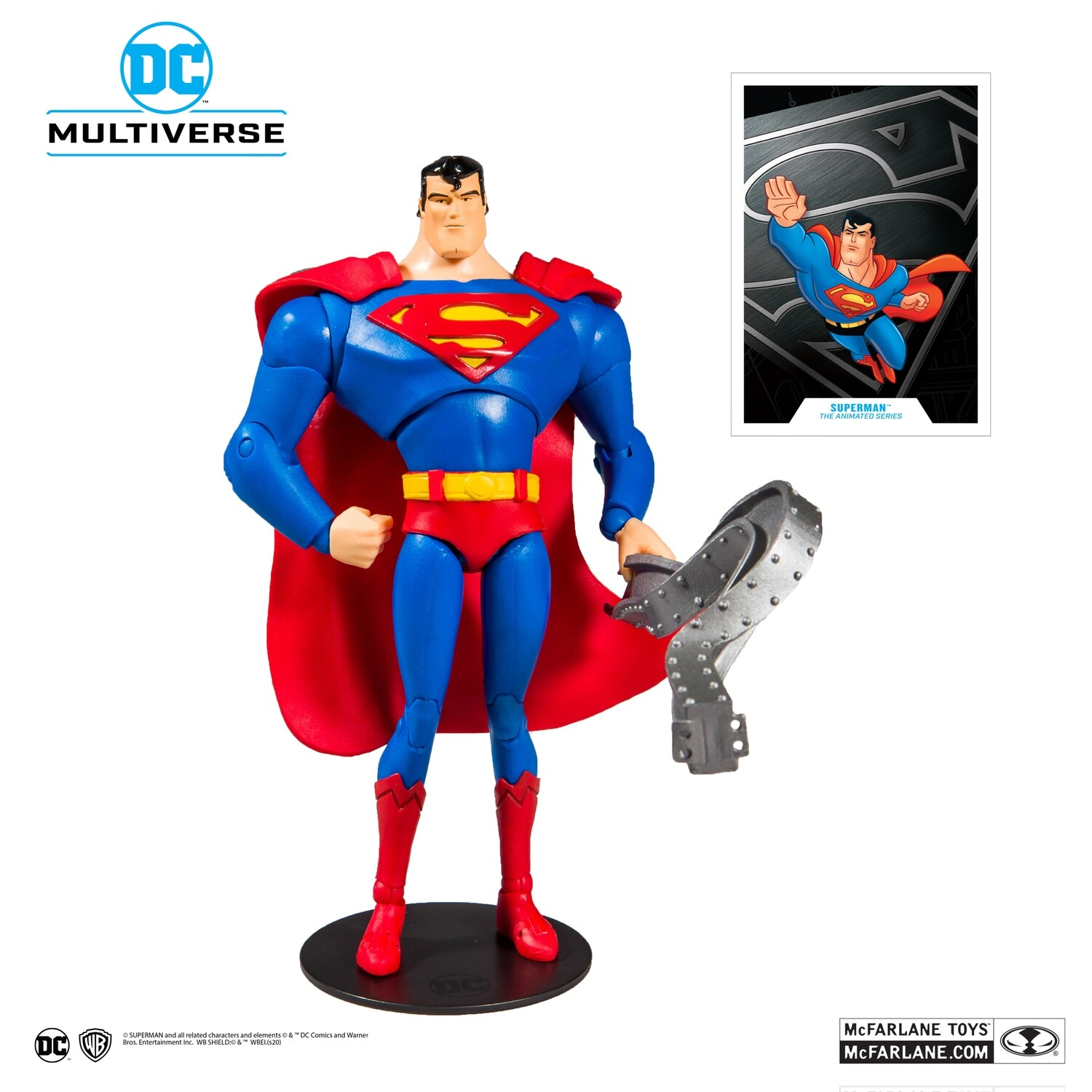 Mcfarlane DC Animated Wave 1 Superman: The Animated Series 7-Inch Action Figure