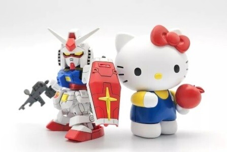 Bandai HELLO KITTY/RX-78-2 GUNDAM[SD EX-STANDARD] 2nd BATCH