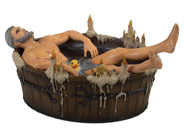 Dark Horse The Witcher 3 - Wild Hunt : Geralt in Bath Statuette