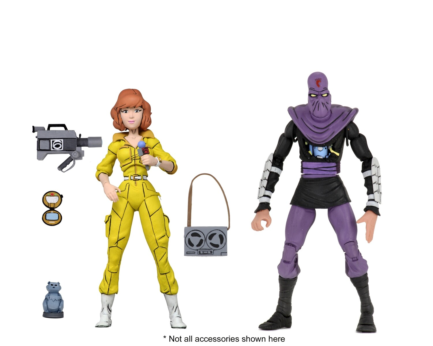"""Neca TMNT - 7"""" Scale Action Figures - Cartoon Series 3 April O'Neil and Foot 2-pack"""