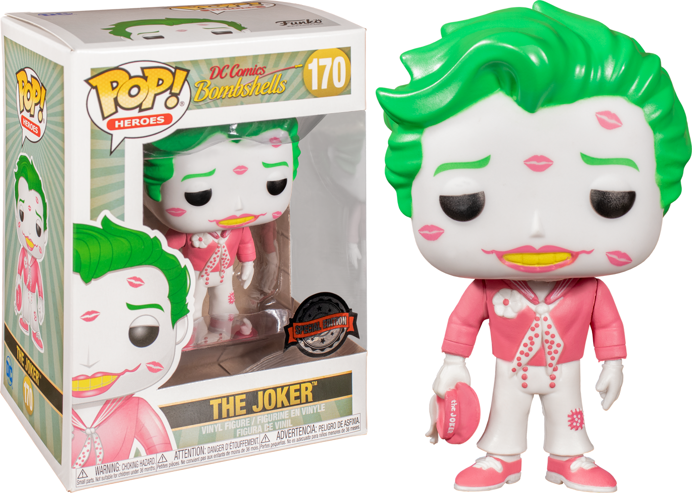 DC Bombshells - Valentine's Joker with Kisses Exclusive Pop! Vinyl Figure