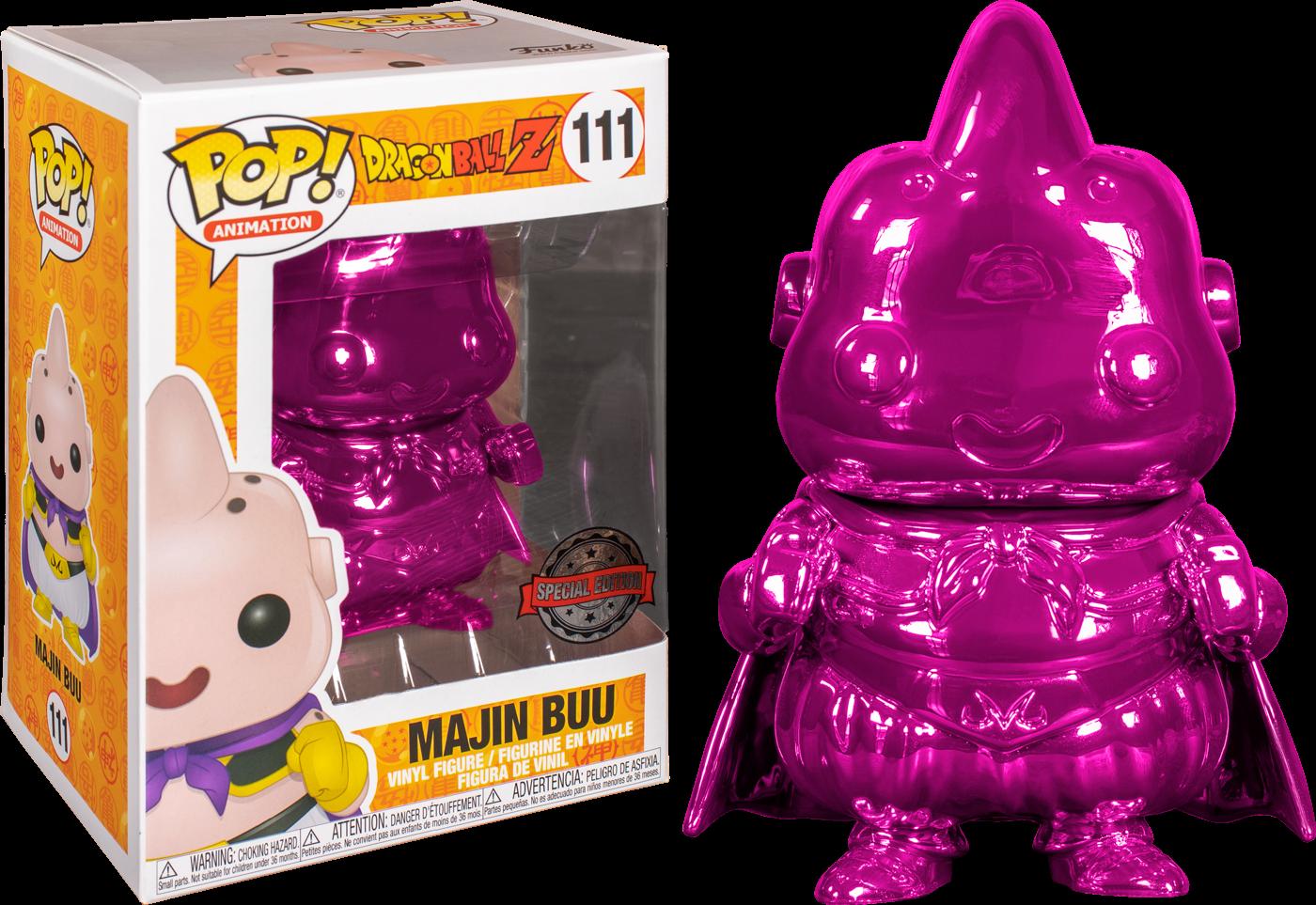 Funko Dragon Ball Z - Majin Buu Pink Chrome Pop! Vinyl Figure