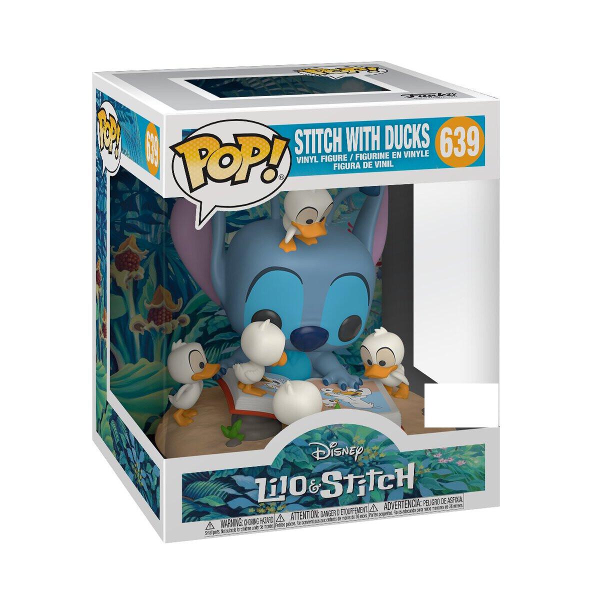 Lilo & Stitch - Stitch with Book & Ducks Pop! Deluxe Vinyl Figure
