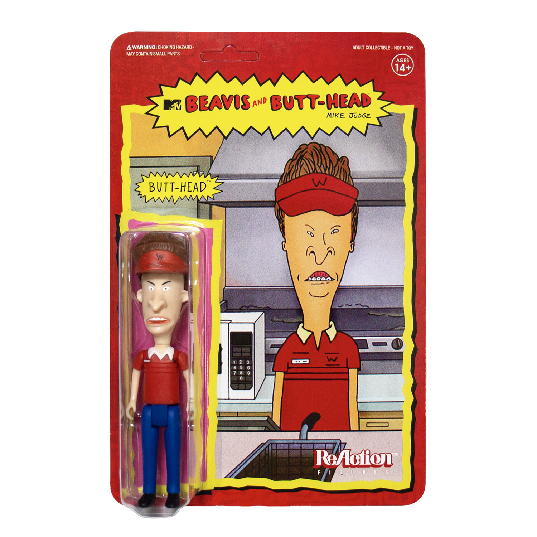 Super7 Beavis and Butt-Head reaction Figure - Burger World Butt-Head