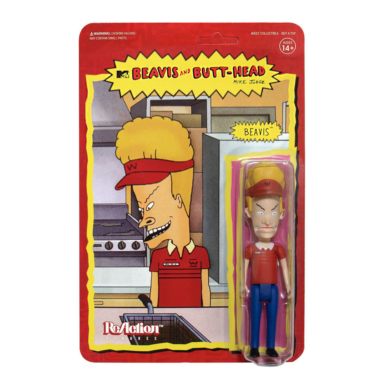 Super7 Beavis and Butt-Head reaction Figure - Burger World Beavis