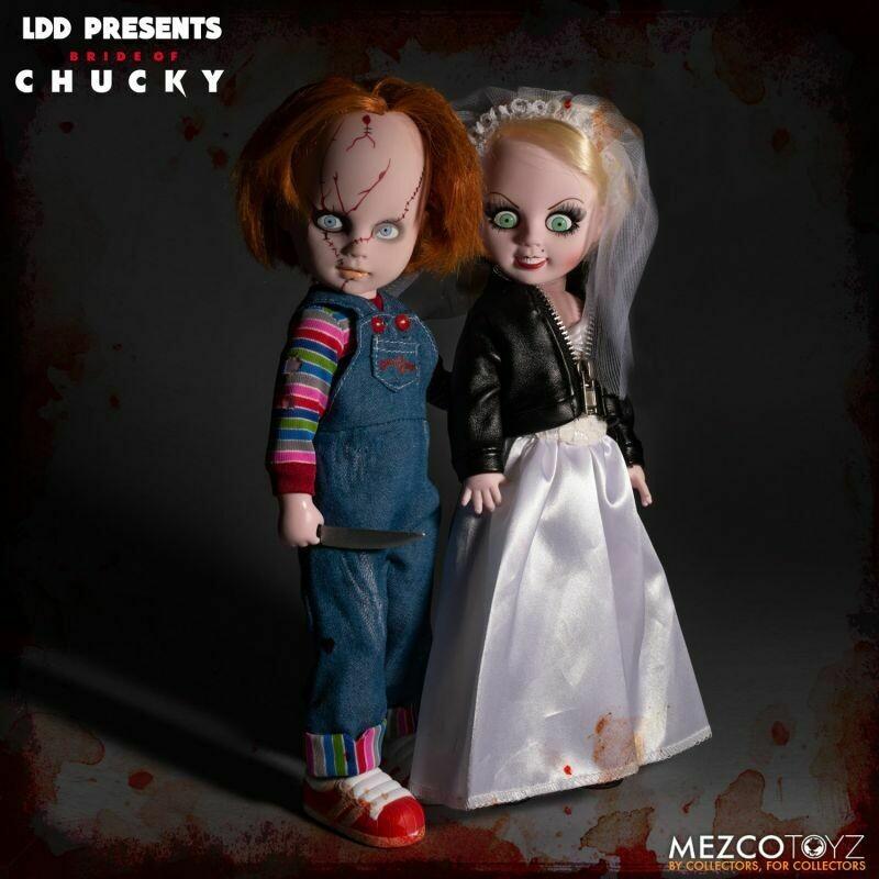 PRE-ORDER Mezco LDD PRESENTS Chucky and Tiffany 2-pack