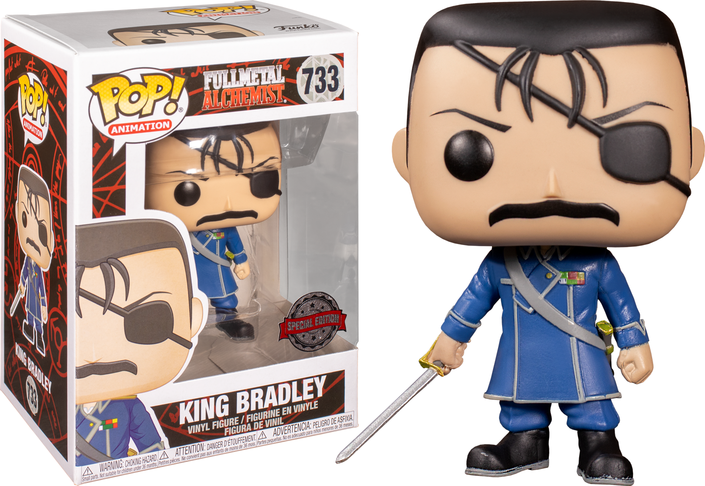 Funko Full Metal Alchemist - King Bradley Pop! Vinyl Figure