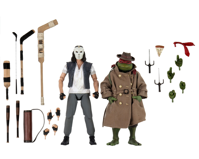 "Neca TMNT – 7"" Scale Action Figure – Casey Jones & Raphael in Disguise 2 pack"