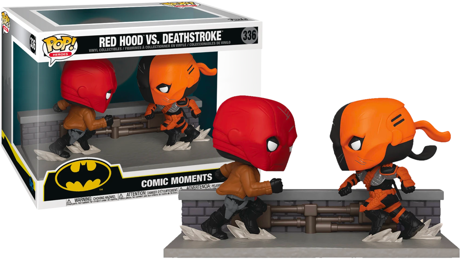 Deathstroke - Red Hood vs Deathstroke Comic Moments Exclusive Pop! Vinyl Figure 2-Pack