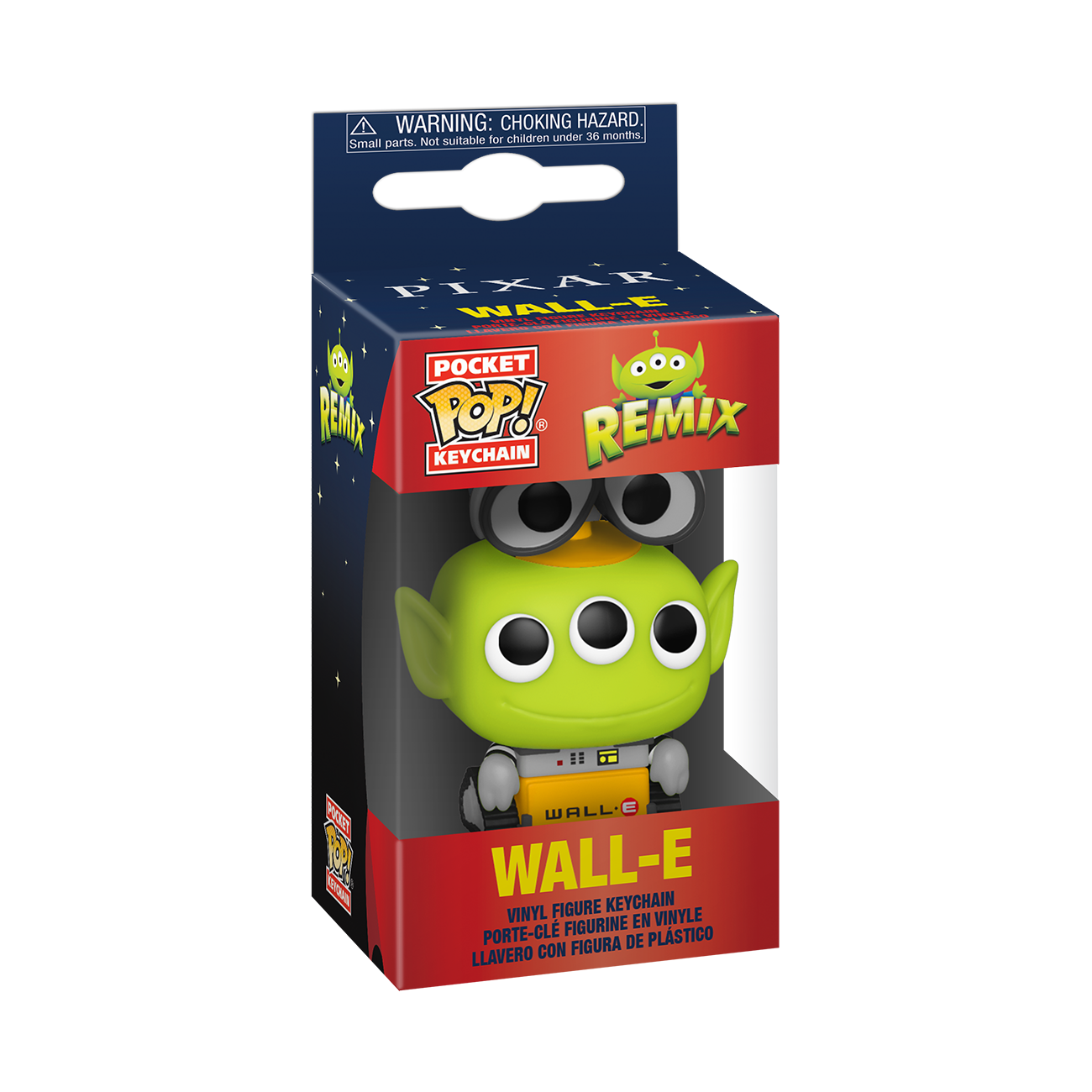 Funko Disney: Pixar Alien Remix as Wall - E Pop Keychain