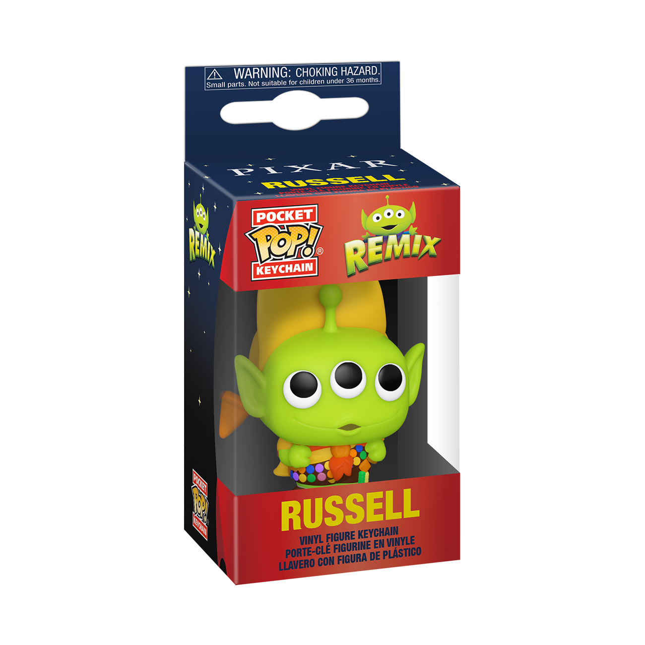 Funko Disney: Pixar Alien Remix as Russell Pop Keychain