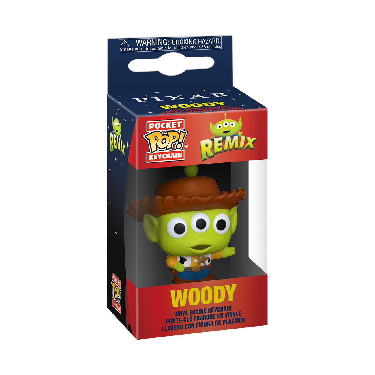 PRE-ORDER Disney: Pixar Alien Remix as Woody Pop Keychain