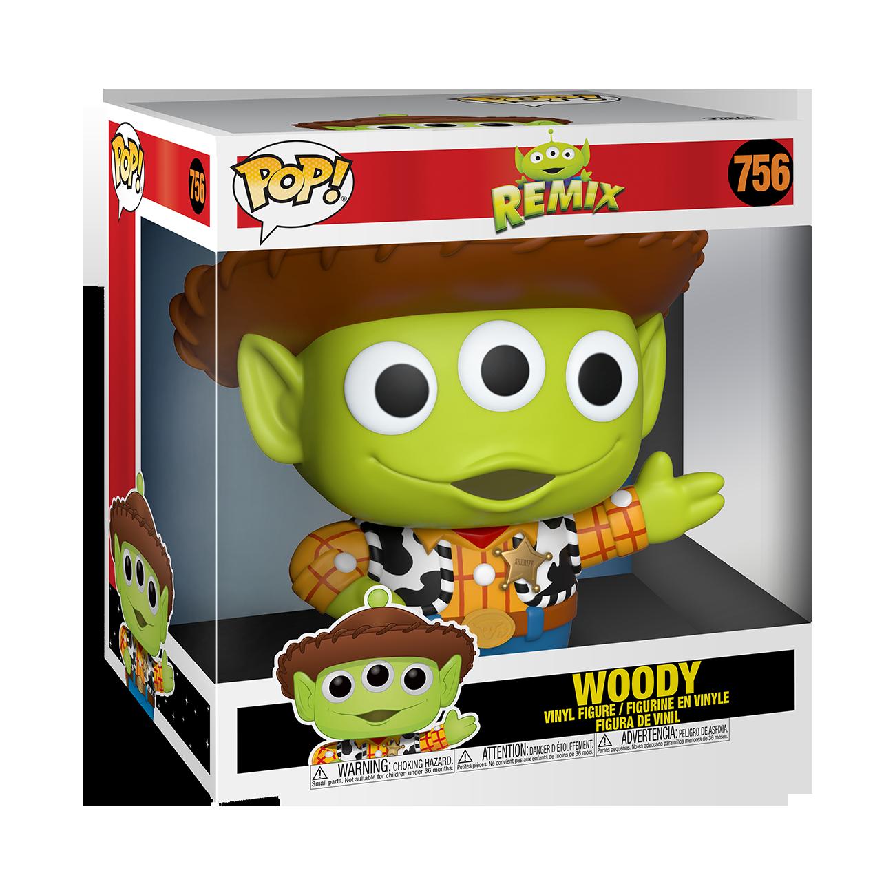 "PRE-ORDER Funko Disney: Pixar Alien Remix as Woody 10"" Vinyl Figure"
