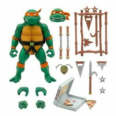 PRE-ORDER Super7 Teenage Mutant Ninja Turtles Ultimates Michelangelo 7-Inch Action Figure