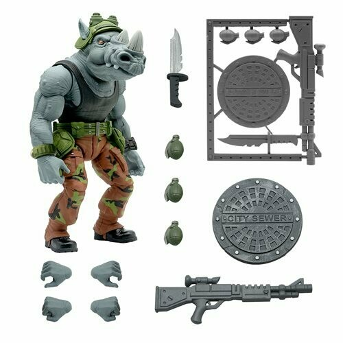 PRE-ORDER Teenage Mutant Ninja Turtles Ultimates Rocksteady 7-Inch Action Figure