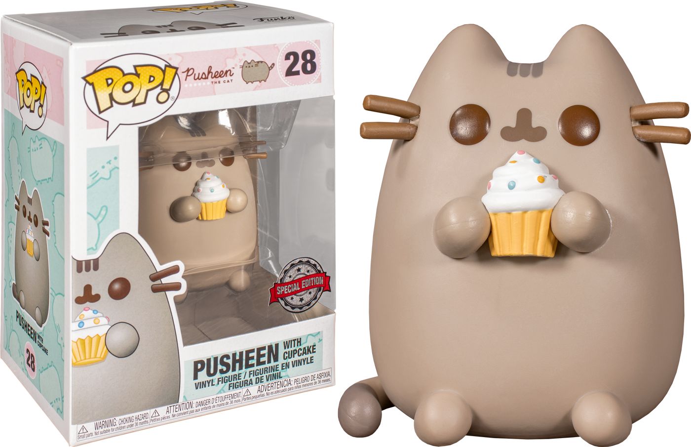 Pusheen - Pusheen with Cupcake Pop! Vinyl Figure