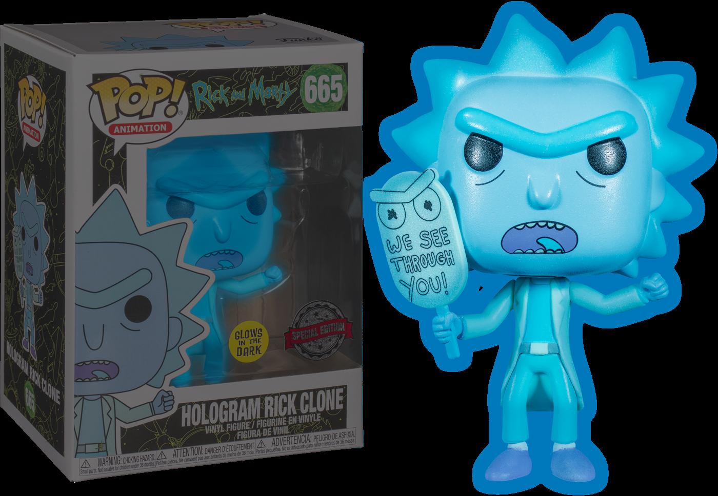 Rick & Morty - Hologram Rick (See You) Glow  Exclusive Pop! Vinyl Figure
