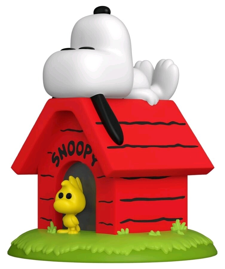 PRE-ORDER Peanuts - Snoopy on Doghouse Pop! Deluxe Vinyl Figure