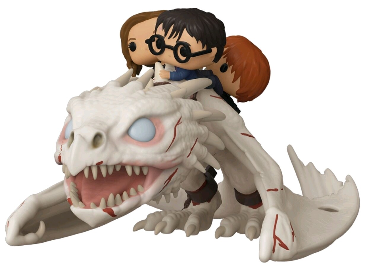 PRE-ORDER Harry Potter - Gringott's Dragon with Harry, Ron & Hermione Pop! Ride