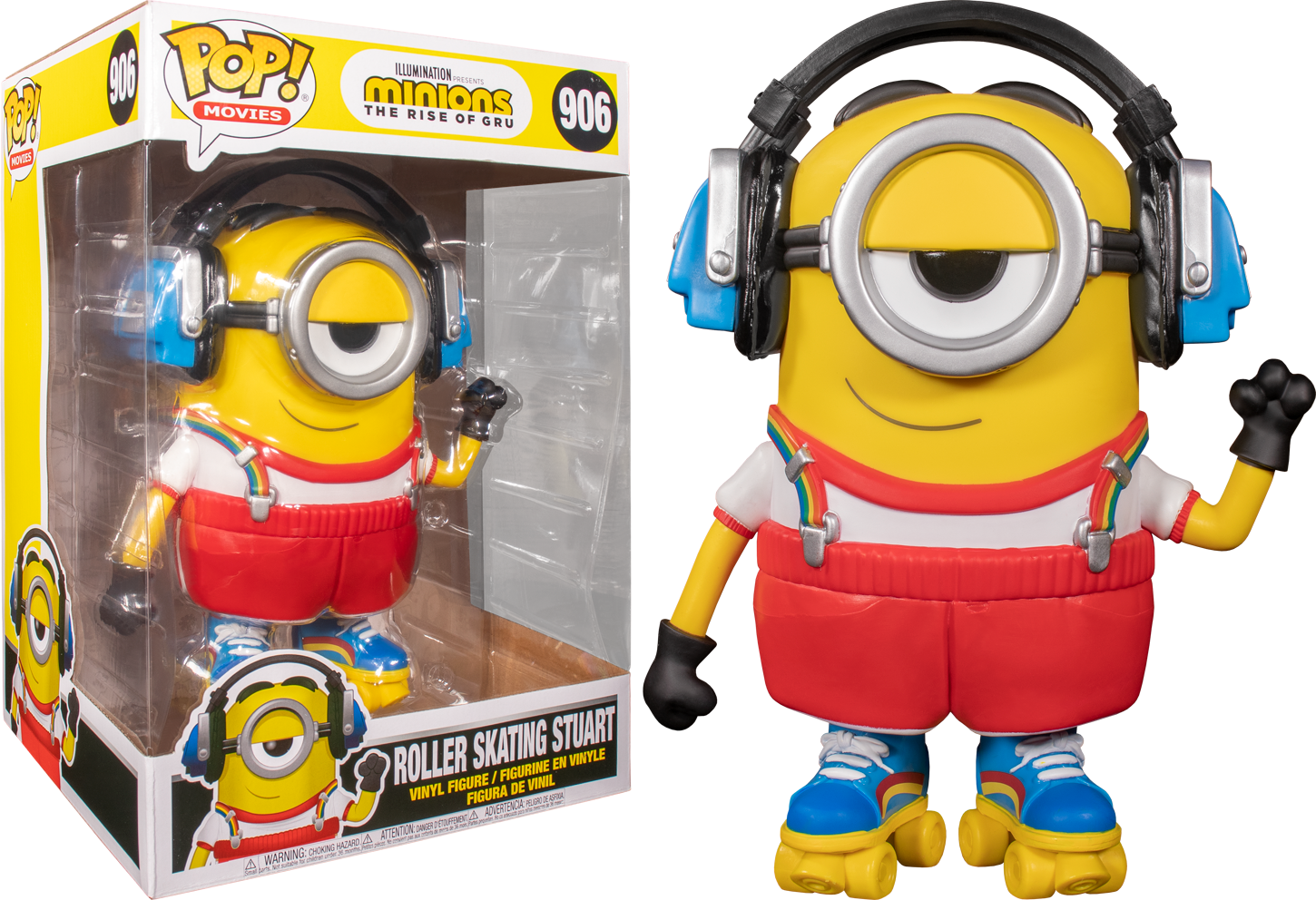 "Minions 2: The Rise Of Gru - Roller Skating Stuart 10"" Pop! Vinyl Figure"