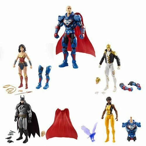 """Mattel DC Comics Multiverse Collect and Connect Lex Luthor Set of 4 6"""" Action Figures"""