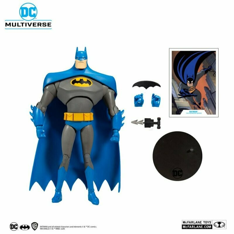 "Mcfarlane DC MULTIVERSE 7"" ACTION FIGURE - Wave 2 Animated Batman Variant Blue/Gray"