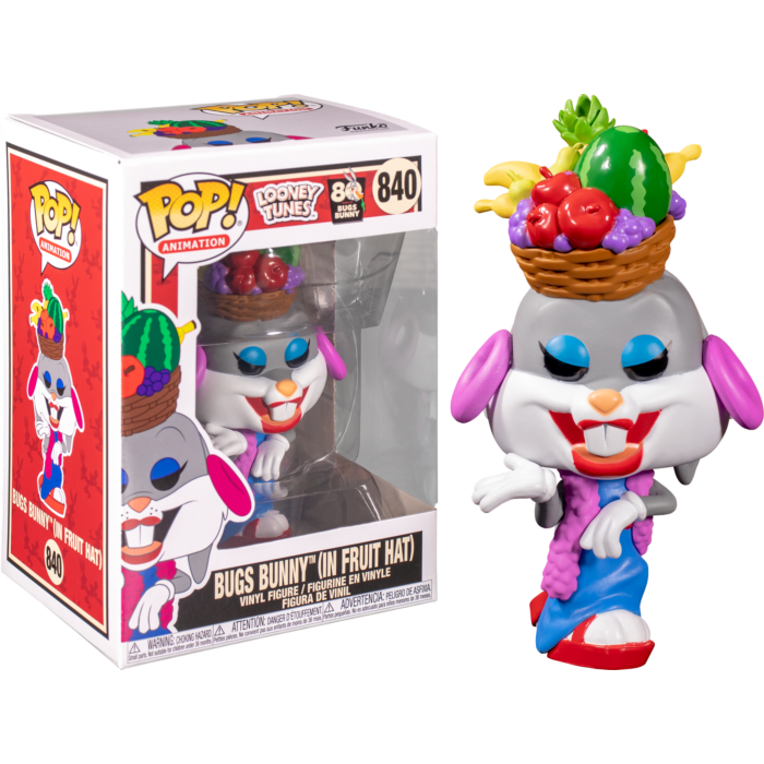 Funko Looney Tunes - Bugs Bunny with Fruit Hat 80th Anniversary Pop! Vinyl Figure