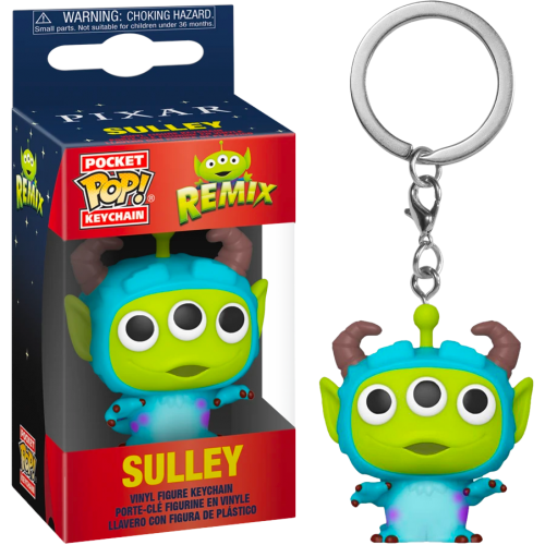 Funko Disney: Pixar Alien Remix as Sulley Pop Keychain