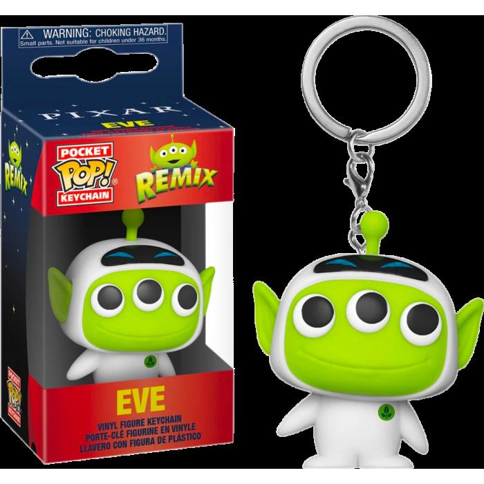 Funko Disney: Pixar Alien Remix as Eve Pop Keychain
