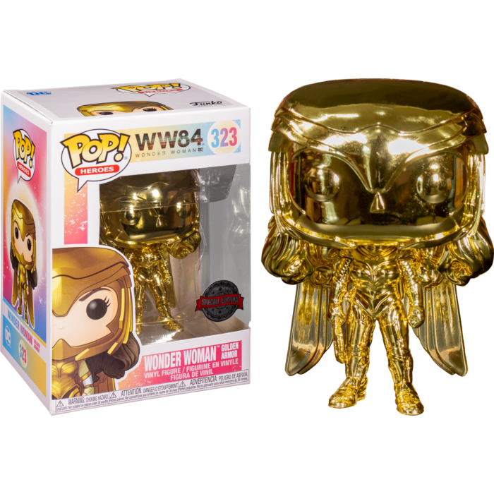 Wonder Woman: 1984 - Wonder Woman Power Pose Gold Chrome Exclusive Pop! Vinyl Figure