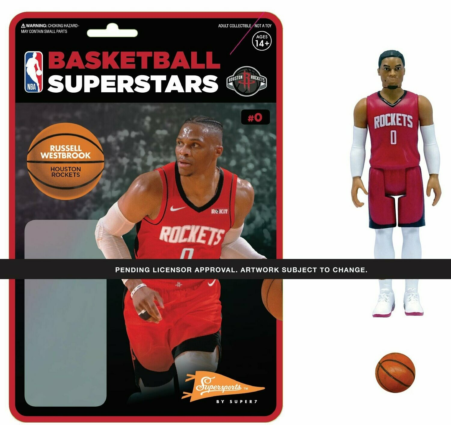 PRE-ORDER NBA REACTION FIGURE - RUSSELL WESTBROOK (ROCKETS)